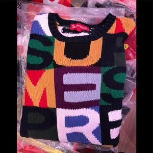 Supreme worded sweater